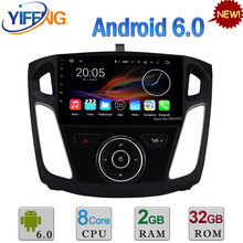 "9 ""PX5 Octa Core WIFI 2 GB RAM 32 GB ROM Android 6.0 Coche DVD DAB reproductor de Radio Estéreo GPS Para Ford Focus 3 2012 2013 2014 2015 2016"