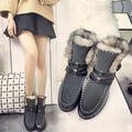 Free Shipping Women Fashion Genuine Leather Ankle Boots Women Winter boots Platform Plush Snow Boots with Fur Size 35-39