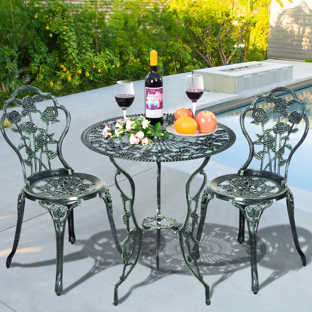 2015 New 3-piece cast table and chair patio furniture garden furniture Outdoor furniture Free Shipping OP2782 3 piece cast aluminum table and chair patio furniture garden furniture outdoor furniture white