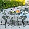 2015 peças de mesa e cadeira mobiliário mobiliário de jardim ao ar livre fundido frete grátis OP2782