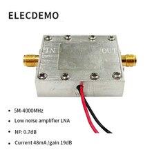 Beidou amplificador de señal RF de banda ancha de bajo ruido, LNA (0.005 4GHz, 19dB, ruido 0.7dB)
