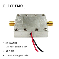 Geräuscharm verstärker breitband RF signal verstärker LNA (0 005-4 GHz 19dB noise 0.7dB) Beidou