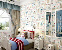 Beibehang Simple For Boys And Girls 3d Wallpaper Mediterranean Wallpaper Bedroom Without Formaldehyde Nonwovens Papel De