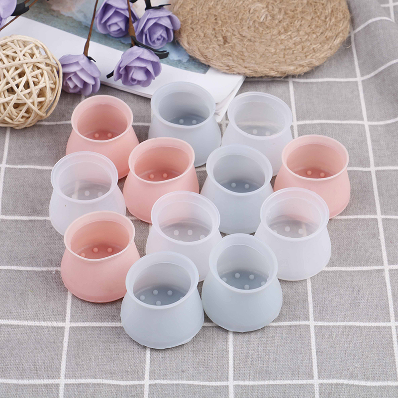 4pcs/Set Furniture Table Covers Silicone Rectangle Square Round Chair Leg Caps Feet Pads Wood Floor Protectors Pads Protective