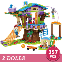 357pcs Friends Adventure Camp Tree House Emma Mia Building Bricks Figure Toy for Children Compatible with Legoings Gift