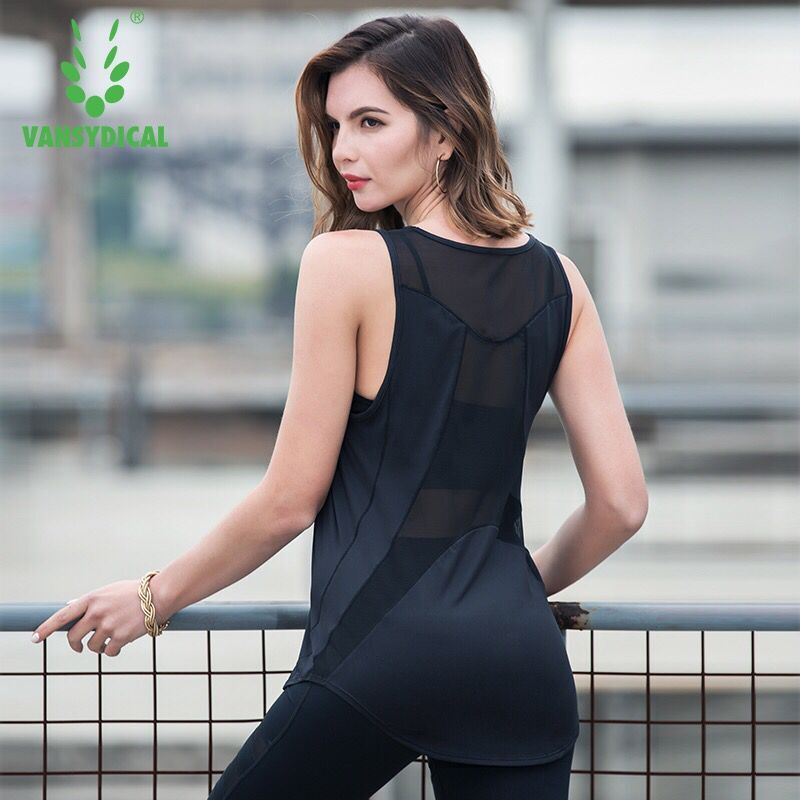 Sport Yoga Vest Sexy Mesh Back Women Tank Tops Fitness Workout Gym Running Shirt Breathable Sportswear Sleeveless Loose T-Shirts women tank running breathable fitness comfortable vest workout sleeveless quick dry gym boxing sportswear shirt yoga top