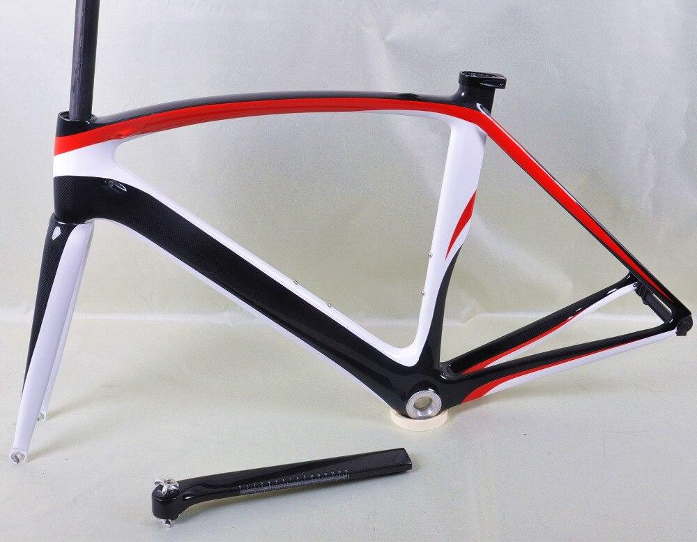 dengfu bikes FM098 aero road bicycle frameset paint in 3k/white ...