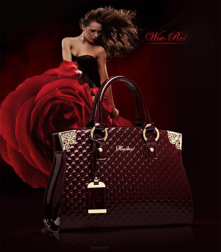 Women Genuine Patent Leather Handbags