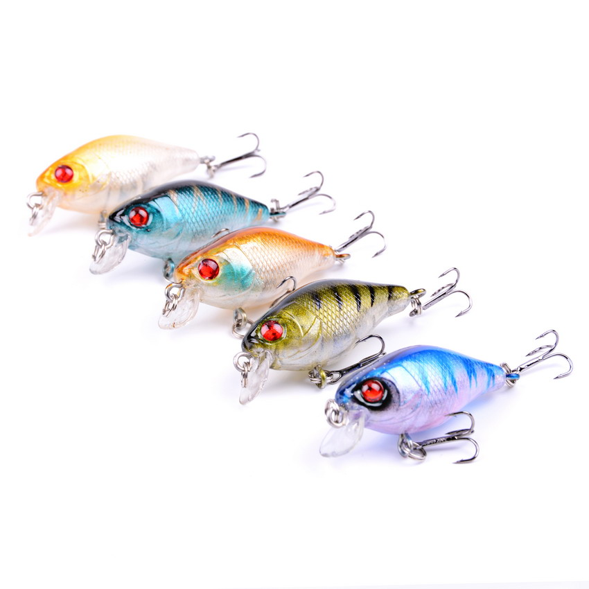 5pcs/set Crankbait Hard Lures 4.2g 4cm Plastic Hard Crank Bait Artificial Lure Perch Fish Pesca Hooks Tackle Japan Wobbler Peche 5pcs lot minnow crankbait hard bait 8 hooks lures 5 5g 8cm wobbler slow floating jerkbait fishing lure set ye 26dbzy