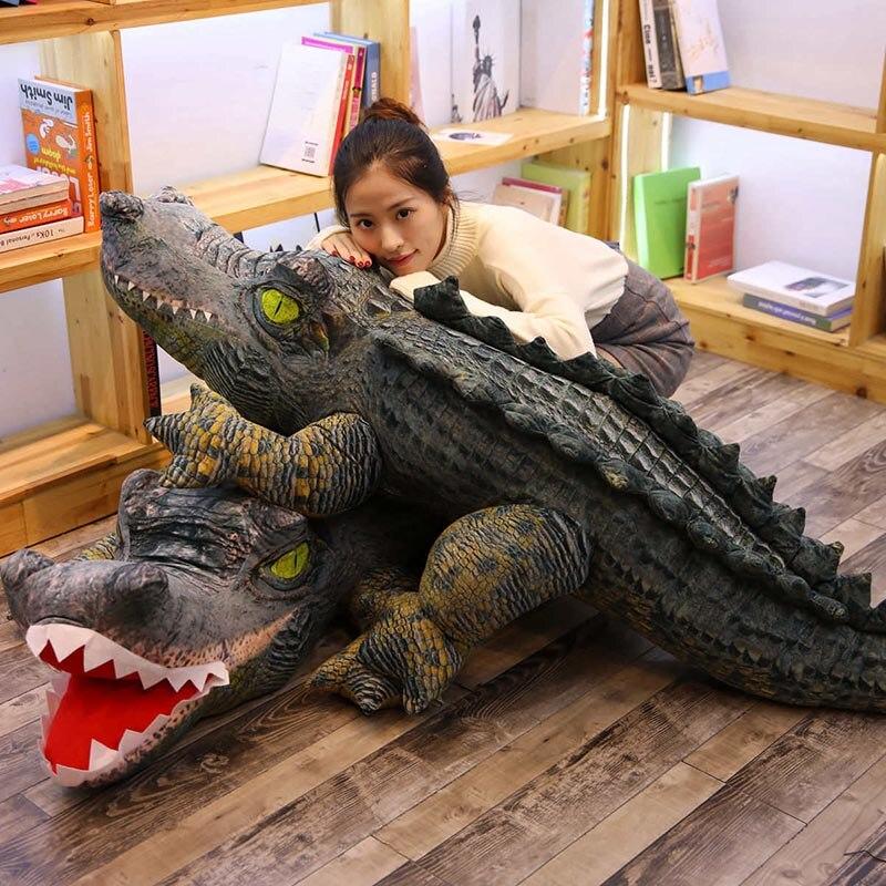 Real Life Plush Crocodile Toy Stuffed Simulation Animal Soft Doll 2m Big Toy For Children Birthday Gift For Boy