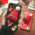 Lovely Knitted Hat Phone Back Cover Cute Girly Christmas Cap Hard Case For iphone 6/6s/6 plus/6s plus/7/7 plus Snowman Case