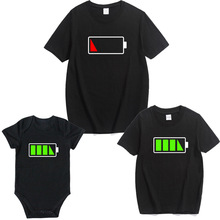 hot deal buy family look t shirts matching clothes outfits father/mother kid baby tshirts daddy/mommy and me clothes baby dresses clothing