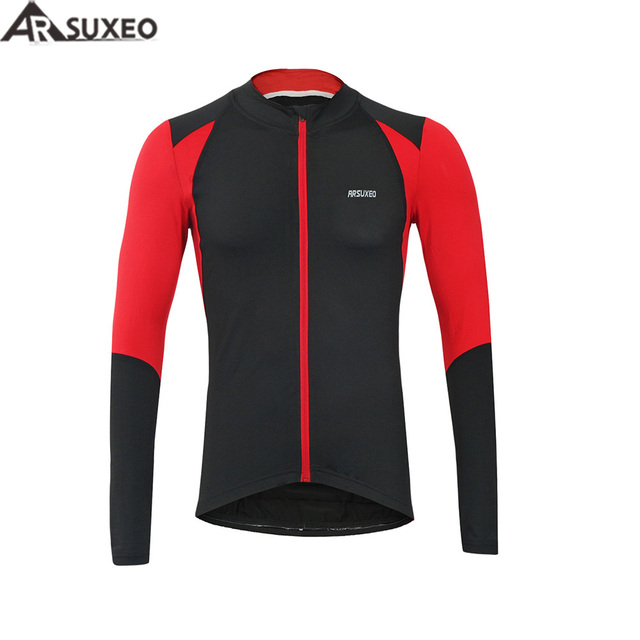 1966d0e68 ARSUXEO Cycling Jersey MTB Clothing Shirt Jersey Outdoor Sports Autumn  Cycling Jersey Bike Bicycle Long Sleeves