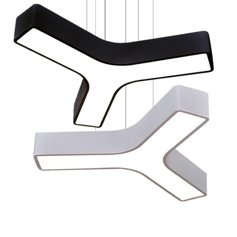 Modern Suspended led pendant light customized black white Suspended install Bjornled hanging lamp fixture acrylic luminaire