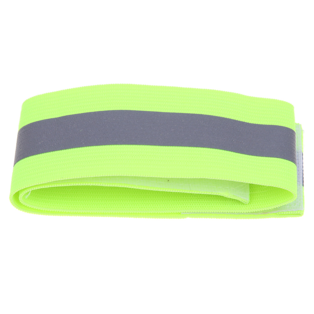 2pcs Reflective Tape Warning Band Belt Outdoor Running Fishing Cycling Arm Leg Straps Safety Warning Belt Reflective Strips