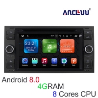 7 4G RAM Android 8.0 Car DVD Player GPS Stereo Navigation For Ford Focus Kug Transit 2004 2005 2006 2007 car Radio navigator