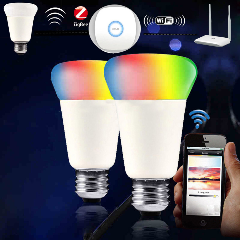 Jiawen Zigbee bulb, smart bulb, wireless bulb, app control, remote...