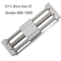 CY1L CY1L25 RMTL Magnetically Coupled Rodless SMC Air Cylinder CY1L25 600 CY1L25 700 CY1L25 800 CY1L25 900 CY1L25 1000