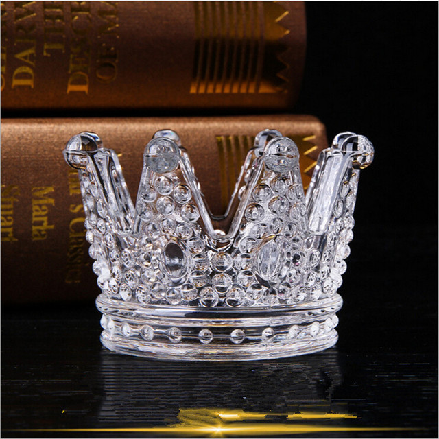 Great Crown Glass Ashtray For Outdoor And Outside Decorative Bone China Ceramic  Round Cigar Ashtray