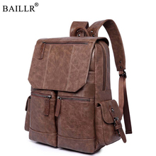 2019 New arrival Vintage PU Leather Backpack School Laptop Backpack Travel Backpack Male Fashion Backpack Schoolbag Wholesale ccz 2017 new arrival pu leather backpacks for men and women fashion school bag male water backpack 14 laptop backpack bk8003