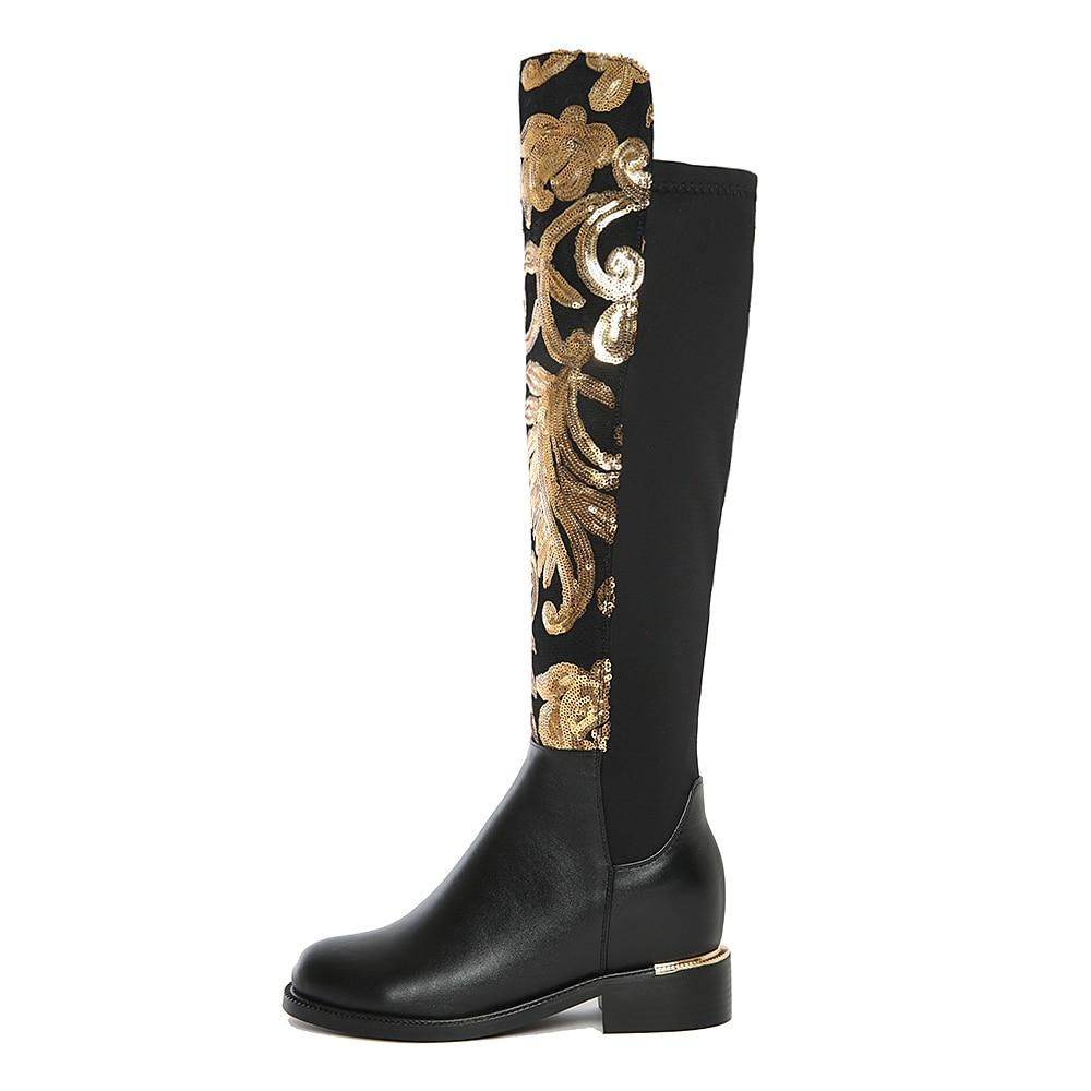 Original Intención Súper Gorgeous Mujeres Rodilla Botas Altas - Zapatos de mujer - foto 3
