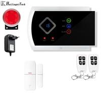 HuilingyiTech Multipe Voice prompt SMS GSM Alarm System Home security System with PIR/Door Alarm Sensor APP control device kit