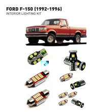 Led interior lights For Ford f-150 1992-1996  9pc Led Lights For Cars lighting kit automotive bulbs Canbus eosuns led tail lights assembly reversed lights brakefor ford f 150 f150 2016 2017