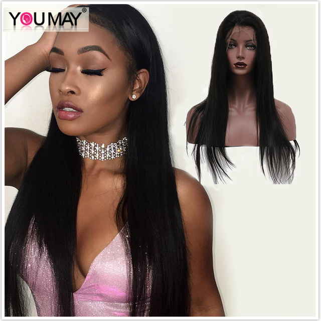 360 Lace Wigs Brazilian Virgin Hair Silky Straight Full Lace Human Hair Wigs For Black Women With Baby Hair 360 Lace Virgin Hair