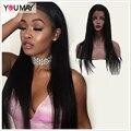360 Pelucas Del Cordón Brasileño Virginal Recta Sedosa Llena Del Cordón Del Pelo Humano Pelucas de pelo Para Las Mujeres Negras Con El Pelo Del Bebé 360 Del Cordón de la Virgen pelo