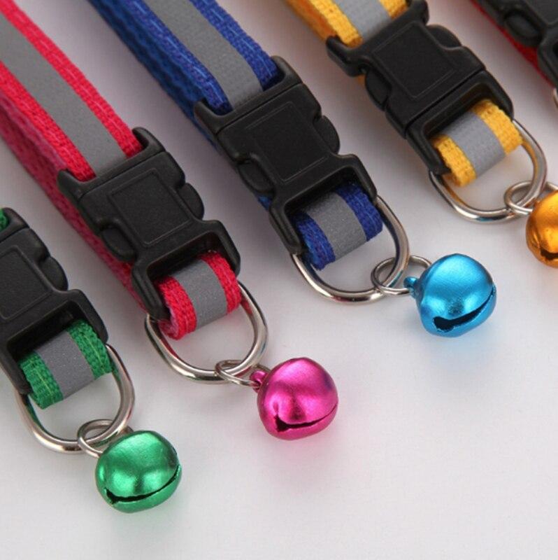 ホットかわいい犬の首輪バックルベルストラップ調節可能なストラップ夜光沢のある反射安全首輪