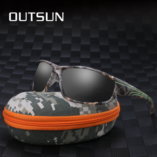 52240b9e025 OUTSUN Polarized Sunglasses Men 2018 New Camo Style TR90 Frame Eyewear Sun  protection Goggles Sport Fishing Sunglasses