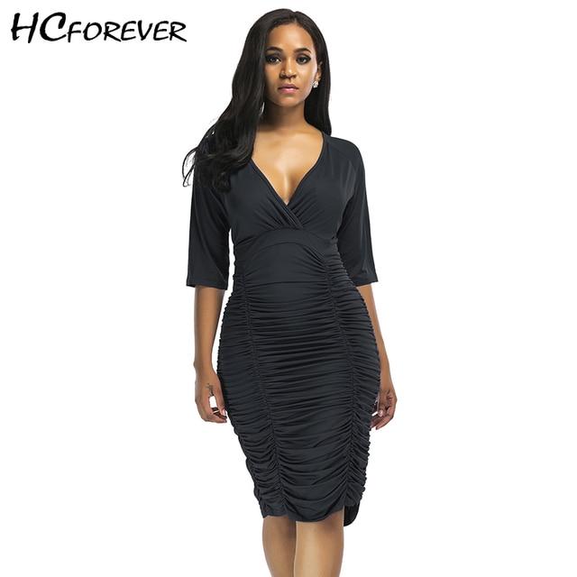 367b28100b50 Summer Sexy Dress Women Bodycon Plus Size Midi Dresses XXXL Black Blue Purple  Sleeve Ruched Sheath Clothes Club Party 2018 New