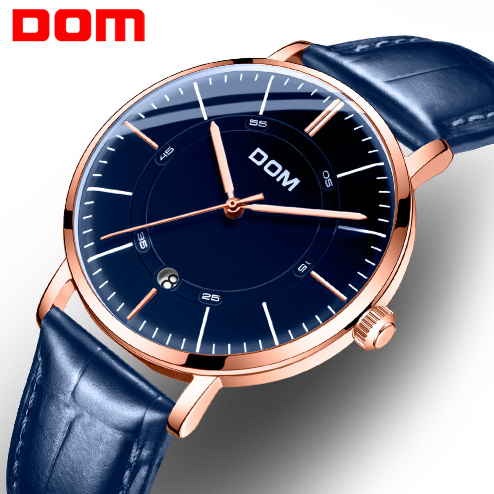 DOM Mens Watches Top Brand Luxury Fashion Skeleton Clock Men Classic Business Watch Automatic Mechanical Watch M-8106