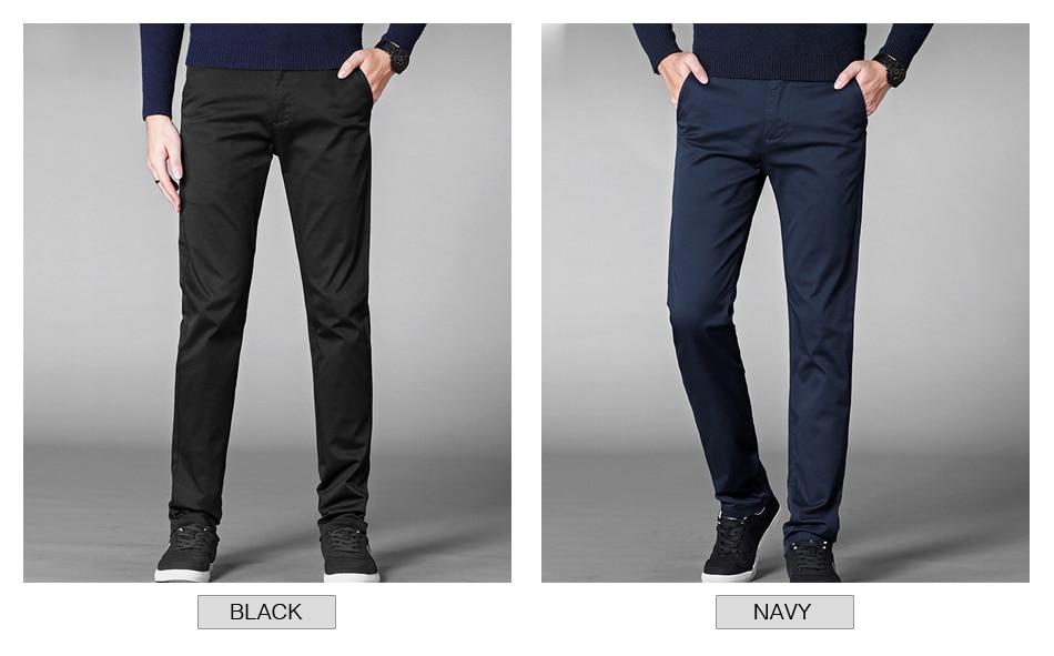 HTB13y7vadzvK1RkSnfoq6zMwVXas 4 Colors Casual Pants Men Classic Style 2019 New Business Elastic Cotton Slim Fit Trousers Male Gray Khaki Plus Size 42 44 46