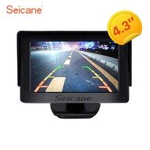 Seicane 4.3 дюймов HD TFT ЖК-дисплей 400tv линии автомобилей Мониторы Дисплей с резервным заднего Камера обратный Парковочные системы Системы