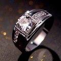 Новая Мода Ювелирные Изделия мужские Белый камень кольца Cz алмазов мужские кольца Из Белого Золота Заполненные Партия Кольца для человека GiftR057