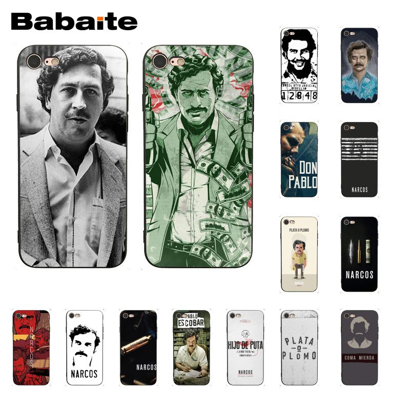 Phone Bags & Cases Generous Babaite Narcos Tv Series Pablo Escobar Novelty Fundas Phone Case Cover For Iphone 8 7 6 6s Plus X Xs Max 5 5s Se Xr 10 Cover A Great Variety Of Models Half-wrapped Case