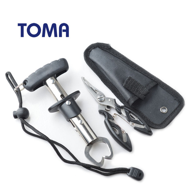 TOMA Stainless Steel Fishing Grip Set Fish Gripper Control + Multifunction Fishing tool Pliers Fishing Tackle  1