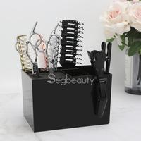 Salon Scissors Holder Comb Stand Haircutting Shears Storage Rack Case Barber Hairdressing Groomer Tool Box Stand Clips Organizer