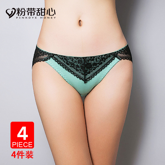 4 gift boxed panty girl temptation modal ladies sexy lingerie lace low waist waist seamless underwear