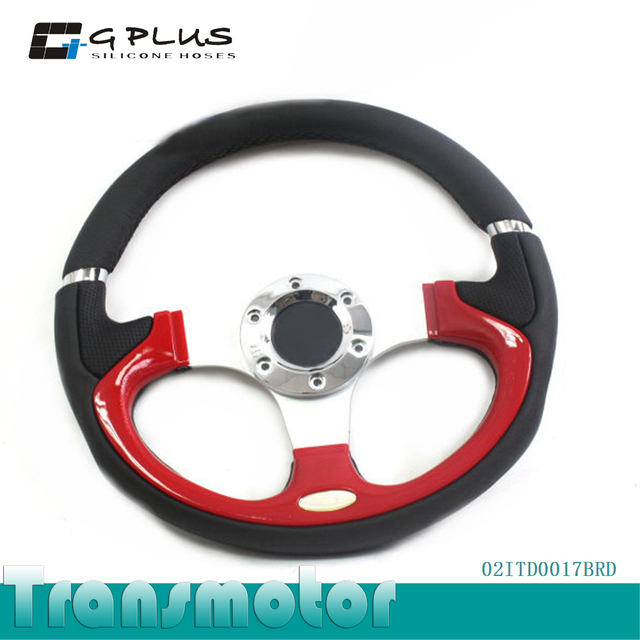 "12.5""/320mm Universal Racing Style Alloy Steering Wheel With Horn Button"