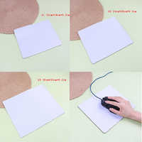 White Mouse Pad Diy Personalized Gamer Gaming Rectangle Mouse Pad PC Computer Rubber Mat Gaming Mouse pad