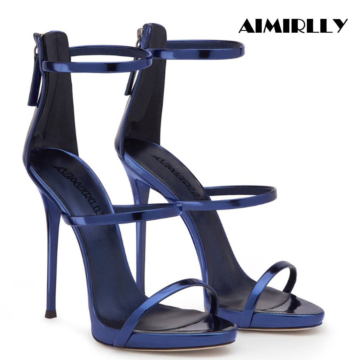 2019 Elegant Women Shoes Peep Toe High Heels Sandals Strappy Cover Heel Zipper Summer Party Dress Shoes2019 Elegant Women Shoes Peep Toe High Heels Sandals Strappy Cover Heel Zipper Summer Party Dress Shoes