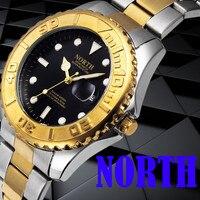 2017 Mens Watches Top Luxury Fashion Brand North Calendar Quartz Wrist Watch Stainless Steel Bracelet Men