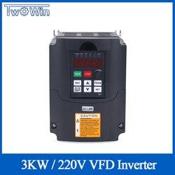 Silnik wrzeciona CNC regulacja prędkości obrotowej 220v 3kw HY VFD napęd o zmiennej częstotliwości 1HP/3HP wejście 3HP wyjście przetwornica częstotliwości
