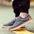 Sapatos de Superstar frete Grátis Top Quality 2016 Nova Moda Denim dos homens Para Ajudar Sapatos Baixos de Lona Sapatos Casuais Respirável homens