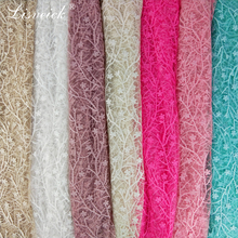 new 1yard Polyester embroidered lace fabric small flower mesh tulle French DIY wedding dress skirt clothes