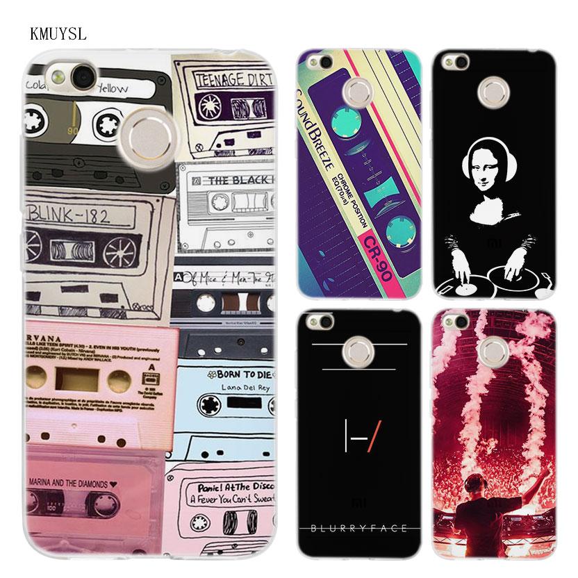 KMUYSL dj music art TPU Transparent Soft Case Cover for Xiaomi Redmi Note 4X 4 4A 5 Mi A1 Plus