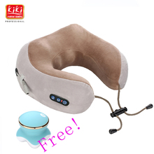 KIKI U Shaped Travel Pillow Neck Car Head Rest memory foam for Travel Office Nap Head Rest Neck Pillow Kneading and vibration