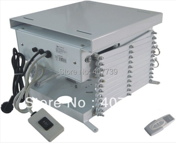 Running distance with remote scissors ceiling for Motorized ceiling projector mount